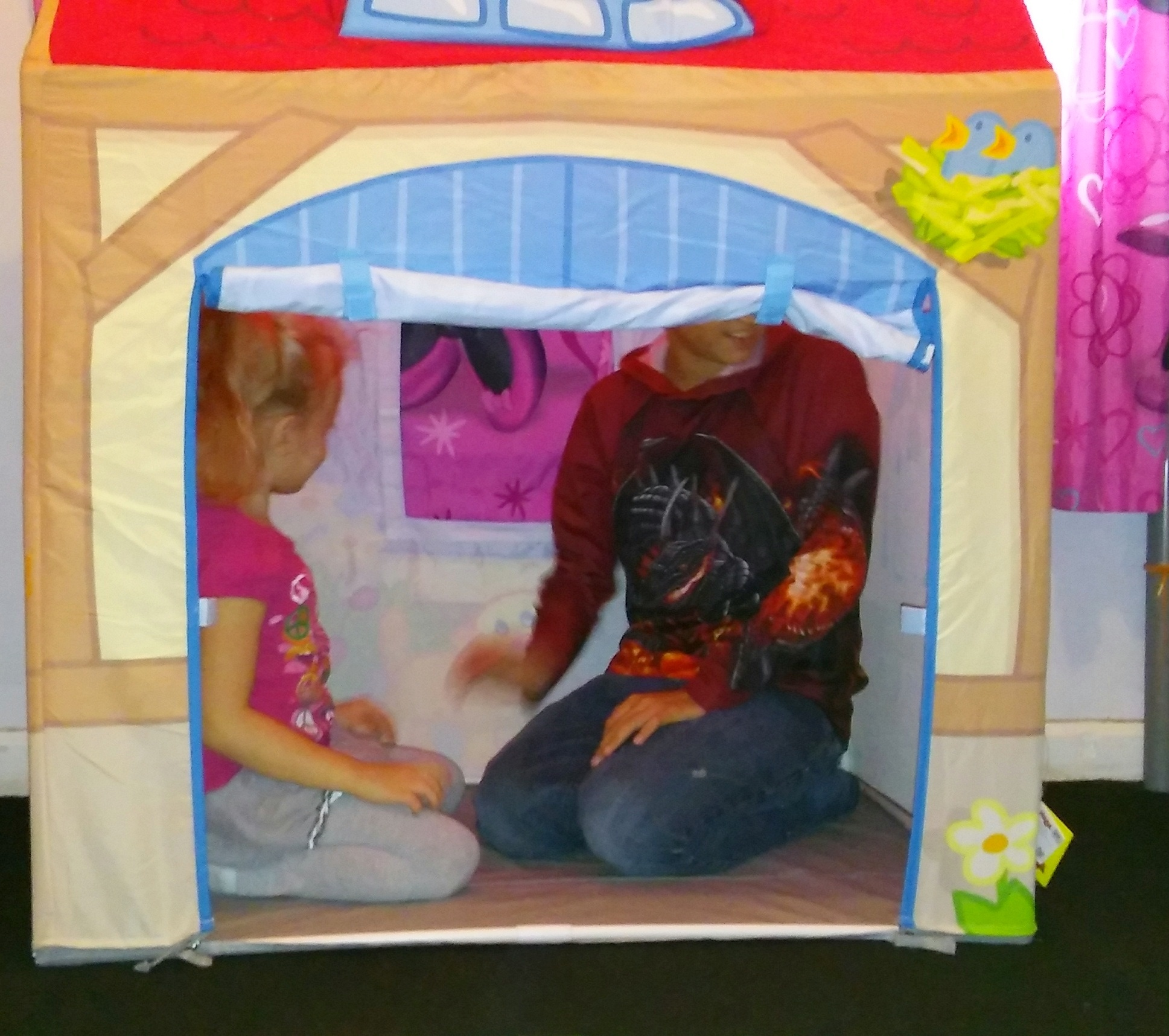 The size of the tent is also pleasantly surprising. My middle child plays with my youngest a lot and there was plenty of room for both of them to play in ... & HABA Farm Play Tent Review | Stephanyu0027s Sweet Life